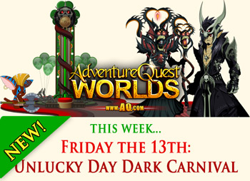 adventure quest worlds friday the 13th game event st patricks day lucky day volatire march 2015