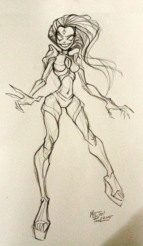chaos queen beleen concept drawing sketch