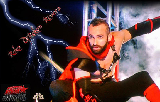 Reko Rivera completes stage one of American Ninja Warrior 2015