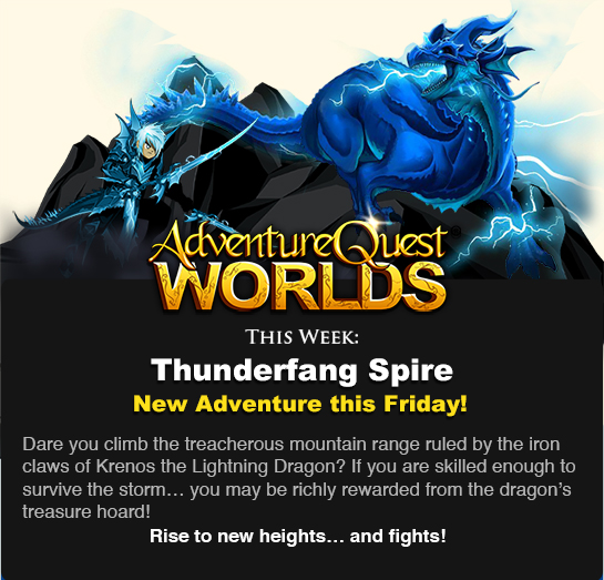 Thunderfang Spire new game release aq worlds