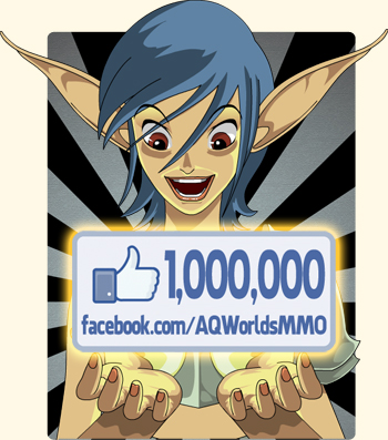 Facebook 1 million likes contest in online adventure game