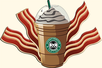 bacon and frappichino yum new starbucks recipe idea maybe