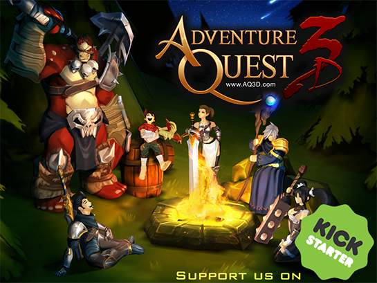 Kickstarter for AdventureQuest 3D happening now!