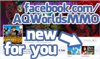 New Facebook App for AQWorlds