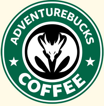 Starbucks spoof AdventureBucks Coffee