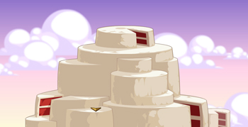 Red Velvet Cake Mountain