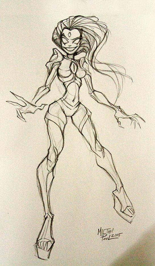 chaos queen beleen concept drawing sketch
