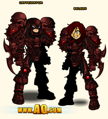 Blood Terror Armor in flash game AdventureQuest Worlds