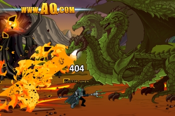 Fantasy game dragon battle