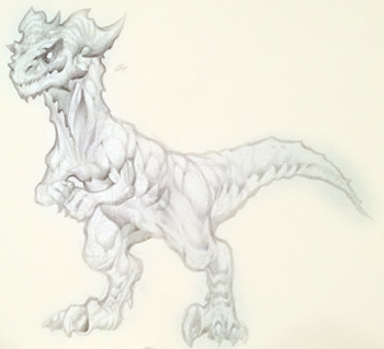 Legion Raptor sketch in online adventure game