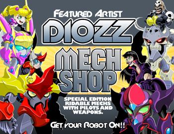 Artist Diozz in online adventure game