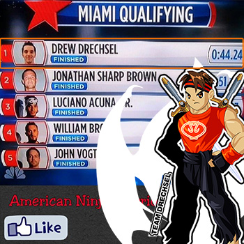 Drew Drechsel gets 1st place on American Ninja Warrior!