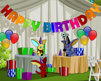Happy birthday in online adventure game