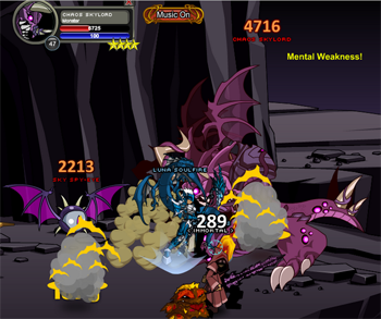 King Opus and Luna defeat Chaos together!