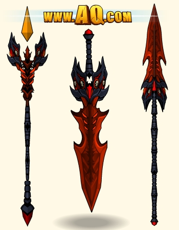 Online MMO Fantasy game weapons