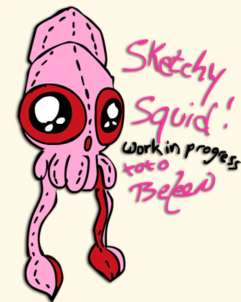Beleen Squid Sketch work in progess