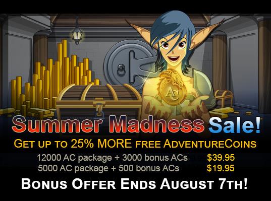 free online rpg mmo summer AC bonus sale