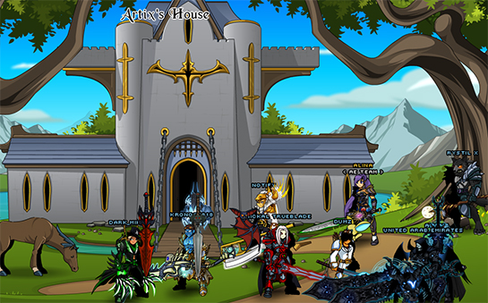 Online mmorpg house custom fantasy castle