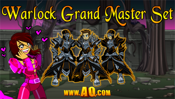 Action adventure MMORPG Armor Rare Warlock Grand Master Set
