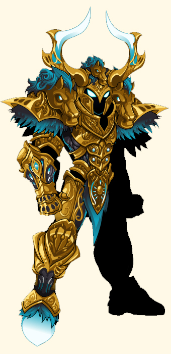 Golden Fury Armor Set exclusive for Members