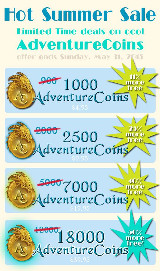 summer sale adventure coins online game aq worlds