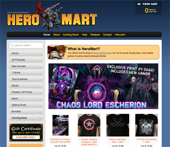 new heromart website